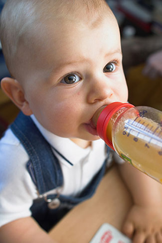 Baby with Bottle - Pediatric Dentist in Yucaipa, Beaumont and Redlands, CA